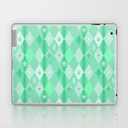 Green Lily Bear Laptop & iPad Skin