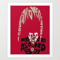 soul eater Art Prints featuring maka albarn soul eater by Rebecca McGoran