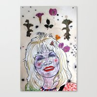 dolly parton Canvas Prints featuring D. Parton by Lauren Over