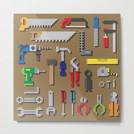 pixel toolboard Metal Print