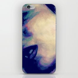 You're No Angel: Violet (sexy watercolor female portrait) iPhone Skin