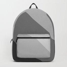 Gray Chevron Stripes Backpack