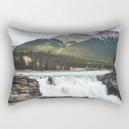 Athabasca Falls, Jasper Rectangular Pillow