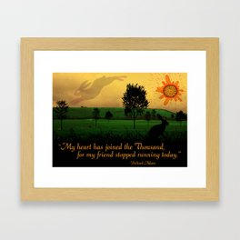 My Heart Has Joined the Thousand Framed Art Print