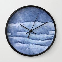 Blue abstract watercolor Wall Clock