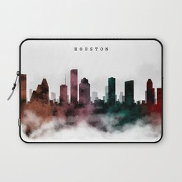 Houston Watercolor Skyline Laptop Sleeve