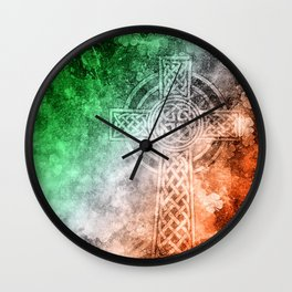 Irish Celtic Cross Wall Clock