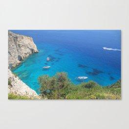 greek sea Canvas Print