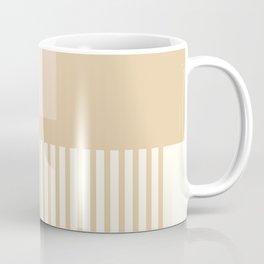 Sol Abstract Geometric Print in Tan Coffee Mug