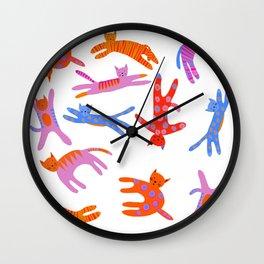 Cartwheel kitties Wall Clock