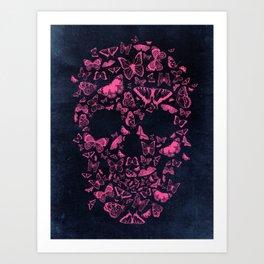 Skull Butterflies Art Print