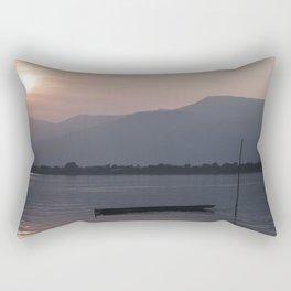 Sunset at Mekong Rectangular Pillow