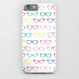 Retro Vintage Nerdy Glasses Pattern iPhone Case