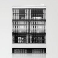 bauhaus Stationery Cards featuring Bauhaus Facade by Ben Rice McCarthy