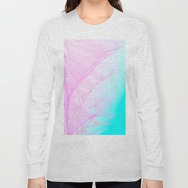 Pastel Motion Vibes - Pink & Turquoise #abstractart #homedecor Long Sleeve T-shirt