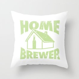 Home Brewing Gift Product Homebrew Craft Beer Design Throw Pillow