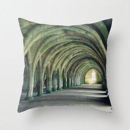 Fountains Abbey Crypt Throw Pillow