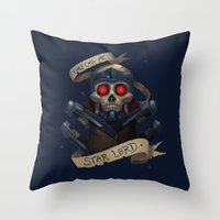 the who Throw Pillows featuring Who? by Michael B. Myers Jr.