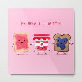 Breakfast Is Jammin' Metal Print
