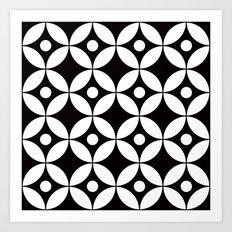 Geometric Pattern #167 (circles dots) Art Print