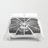 panther Duvet Covers featuring PANTHER by TOO MANY GRAPHIX