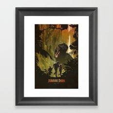 Dinosaur Poster Framed Art Print
