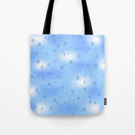 Water dops with sky background Tote Bag