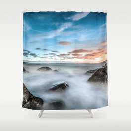 Above the mountines Shower Curtain