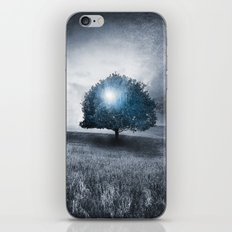 Energy from the blue tree iPhone Skin