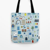 morocco Tote Bags featuring Morocco Sketch by Nic Squirrell