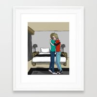 pewdiepie Framed Art Prints featuring Please don't cry by SofusGirl