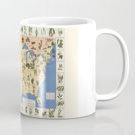 Medicinal Plants map of US Coffee Mug