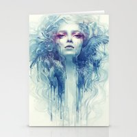 oil Stationery Cards featuring Oil by Anna Dittmann
