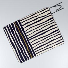 Zebra style animal print pattern Picnic Blanket