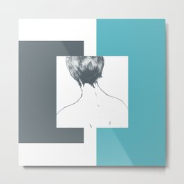 sea foam—abstract longing Metal Print