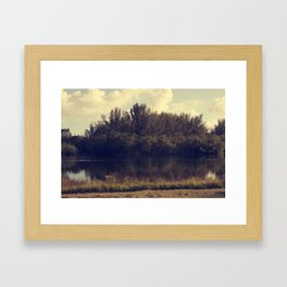 Meet Me By The Lake Framed Art Print