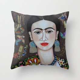 Frida thoughts Throw Pillow