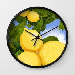 Lemons For Days Wall Clock