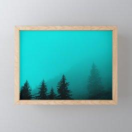 0345v2 Turquoise Fog - Seward, Alaska Framed Mini Art Print