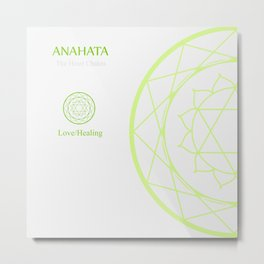 Anahata- The heart chakra which stands for love or healing. Metal Print