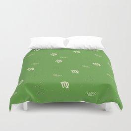 Virgo Pattern - Green Duvet Cover