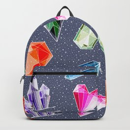Crystals and Gemstones Pattern Backpack