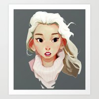 snsd Art Prints featuring Taeyeon by Samuel Youn