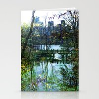 central park Stationery Cards featuring Central Park  by aLovelyNotion