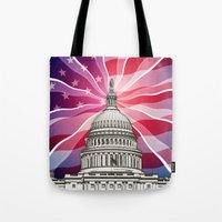 politics Tote Bags featuring The World of Politics by politics