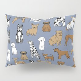 Dogs pattern minimal drawing dog breeds cute pattern gifts by andrea lauren Pillow Sham