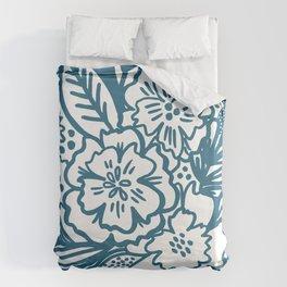 Inky Floral Sketch Duvet Cover