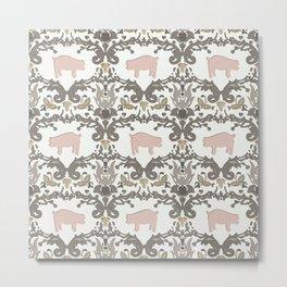 pig damask Metal Print