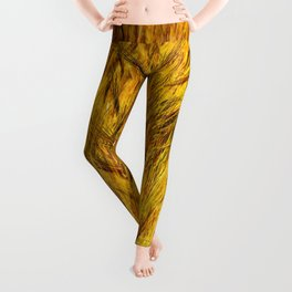 Wild Grass Burnished By The Sun Leggings