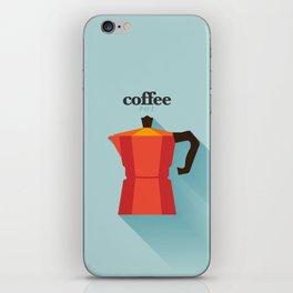Minimal Coffee Poster iPhone Skin